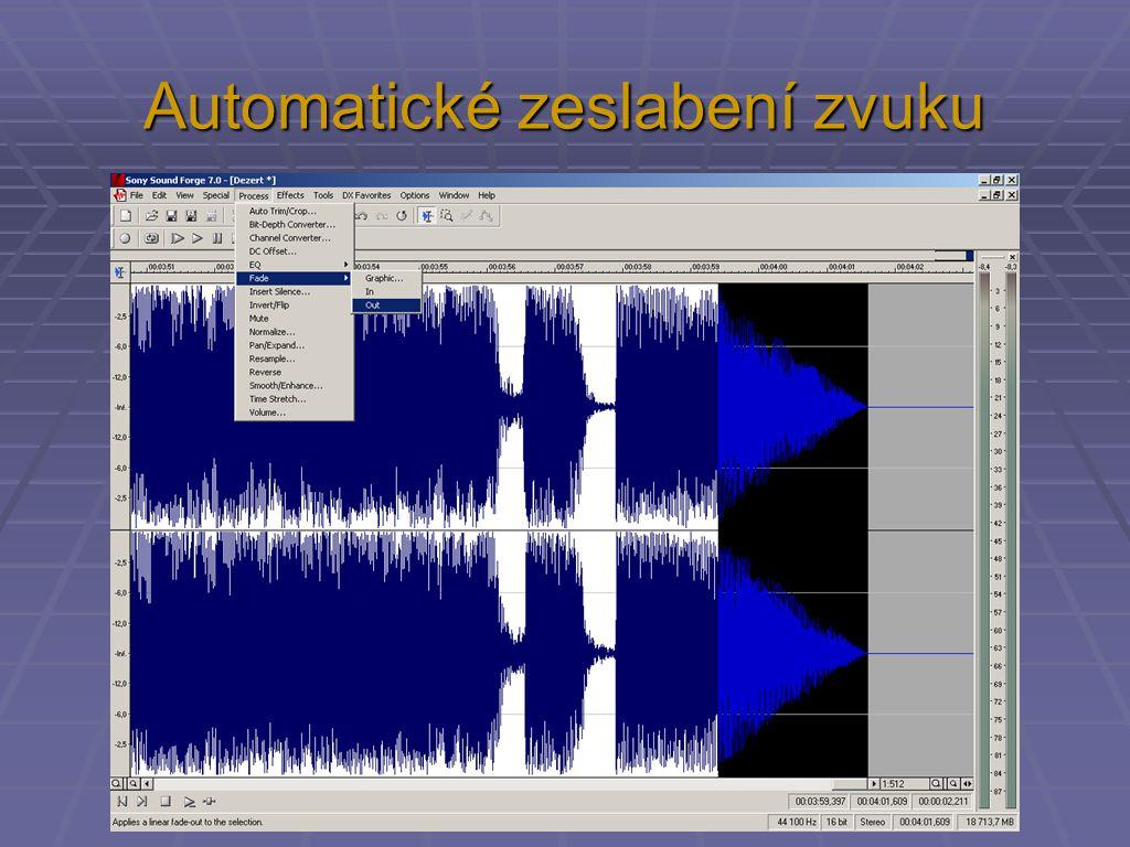 Automatické zeslabení zvuku