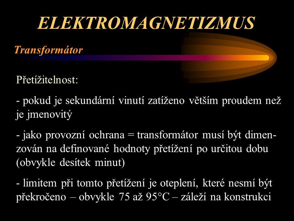 ELEKTROMAGNETIZMUS Transformátor Základní schematické značky.