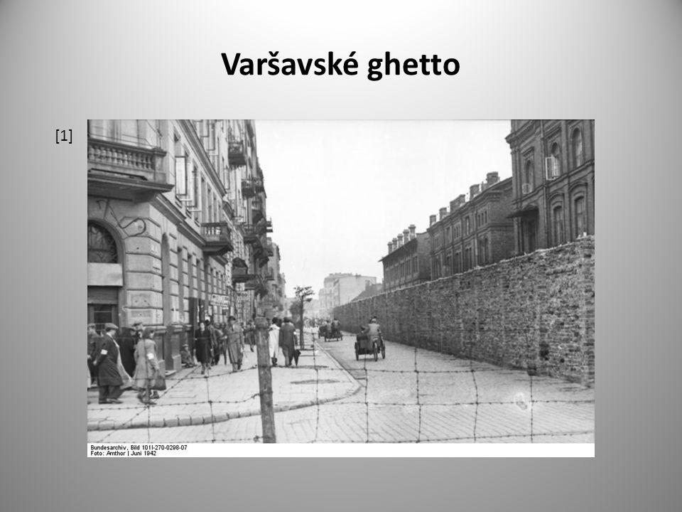 Úkoly pro studenty 1.Vysvětli význam slova ghetto.