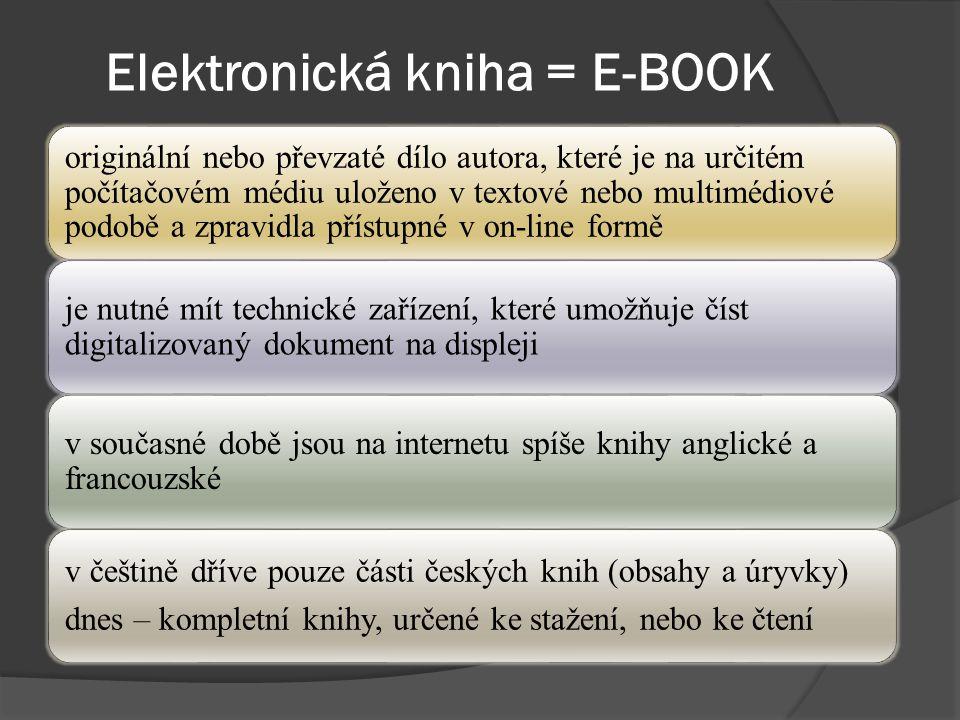 Elektronické dokumenty využívají možností výpočetní techniky k prohledávání velkých množství dat na Internetu se stoupajícím množstvím informací je toto jedna z největších předností el.
