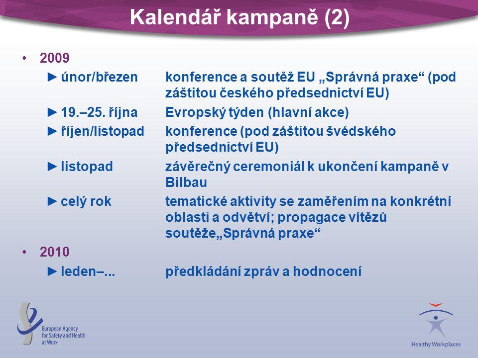 """Kalendář kampaně (2) 2009 ►únor/březenkonference a soutěž EU """"Správná praxe (pod záštitou českého předsednictví EU) ►19.–25."""