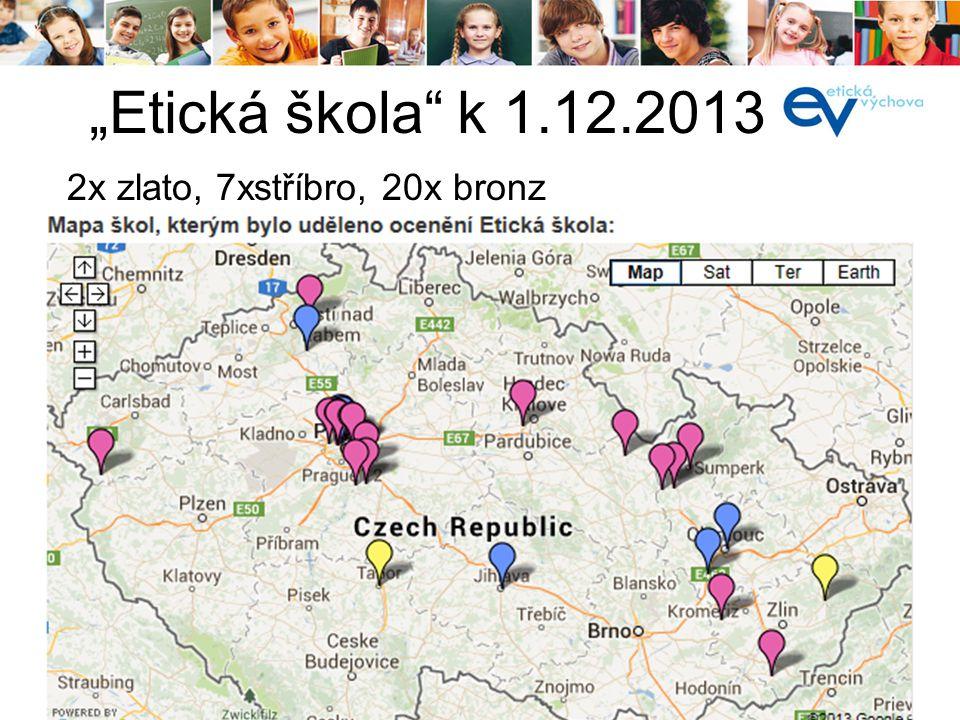 """í 2x zlato, 7xstříbro, 20x bronz """"Etická škola"""" k 1.12.2013"""