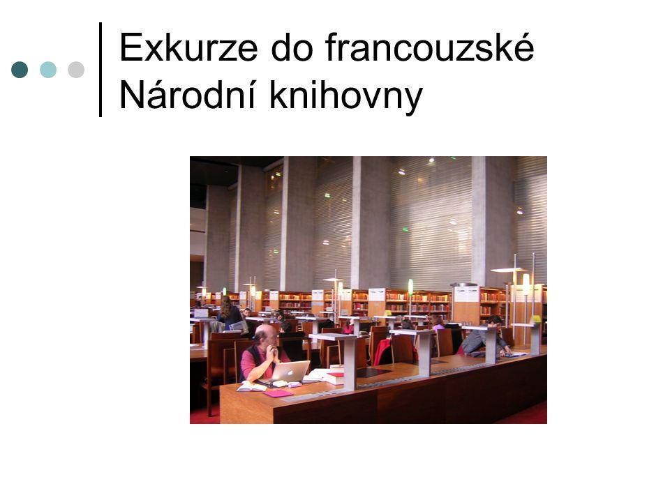 Exkurze do francouzské Národní knihovny