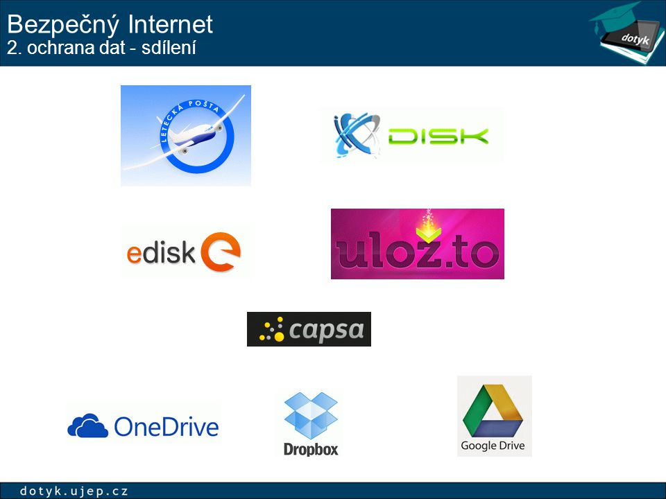 Bezpečný Internet 2. ochrana dat - sdílení