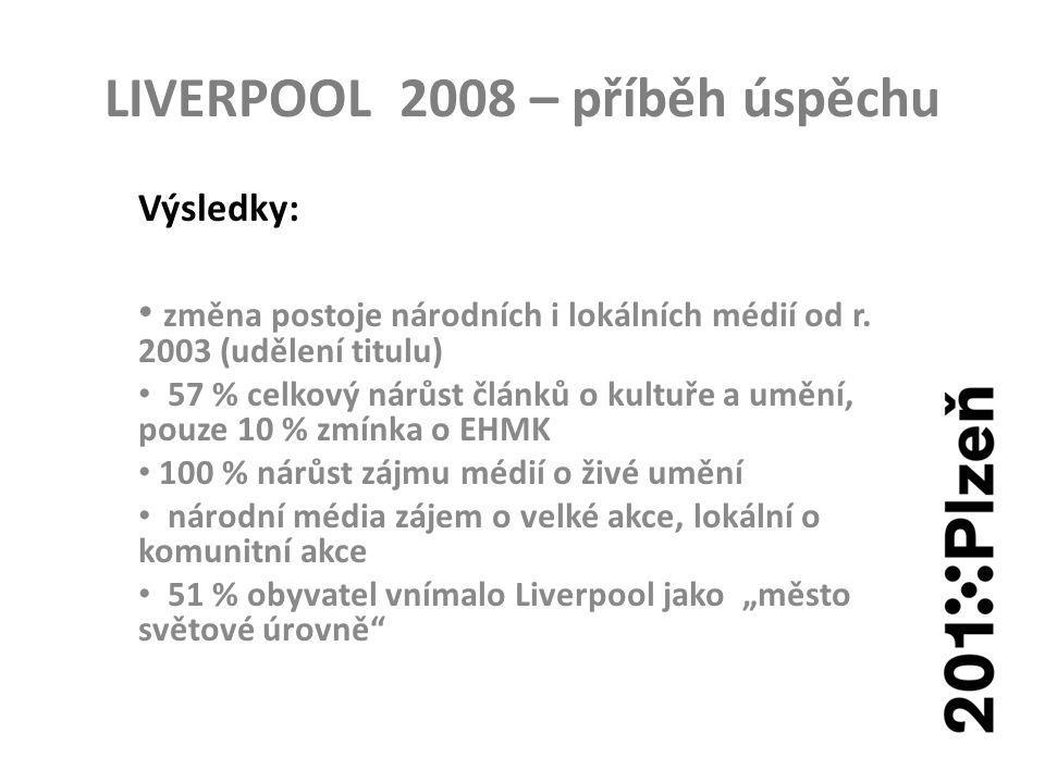LIVERPOOL 2008 – příběh úspěchu Výsledky: změna postoje národních i lokálních médií od r.