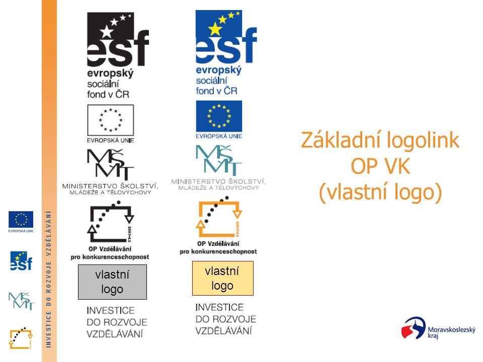 INVESTICE DO ROZVOJE VZDĚLÁVÁNÍ Základní logolink OP VK (vlastní logo) vlastní logo