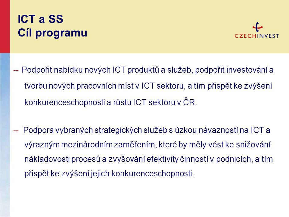 -- Podpořit nabídku nových ICT produktů a služeb, podpořit investování a tvorbu nových pracovních míst v ICT sektoru, a tím přispět ke zvýšení konkure