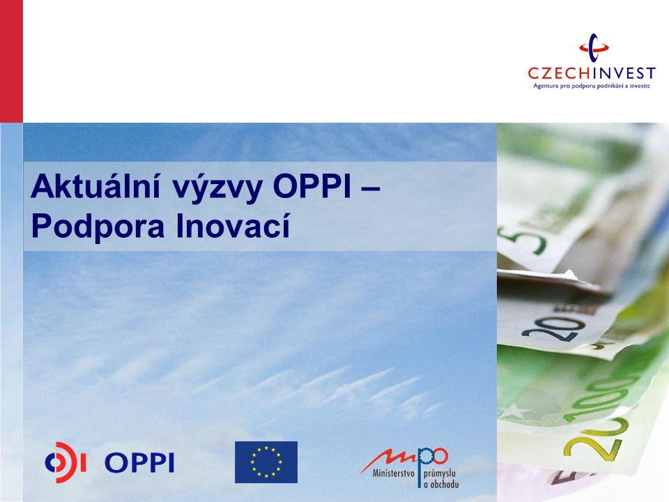 Aktuální výzvy OPPI – Podpora Inovací