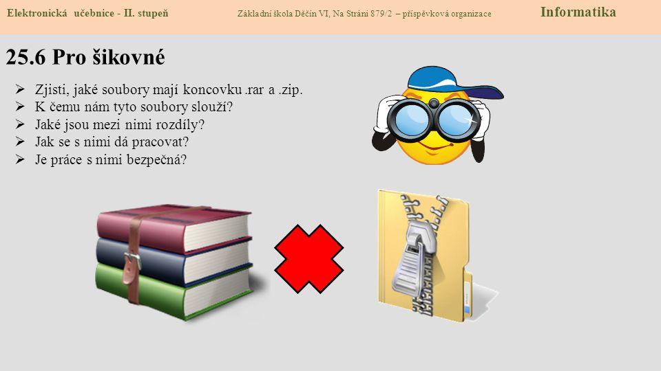 25.6 Pro šikovné Elektronická učebnice - II.