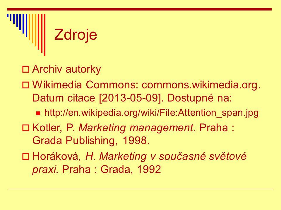 Zdroje  Archiv autorky  Wikimedia Commons: commons.wikimedia.org. Datum citace [2013-05-09]. Dostupné na: http://en.wikipedia.org/wiki/File:Attentio