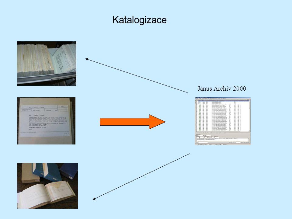 Katalogizace Janus Archiv 2000