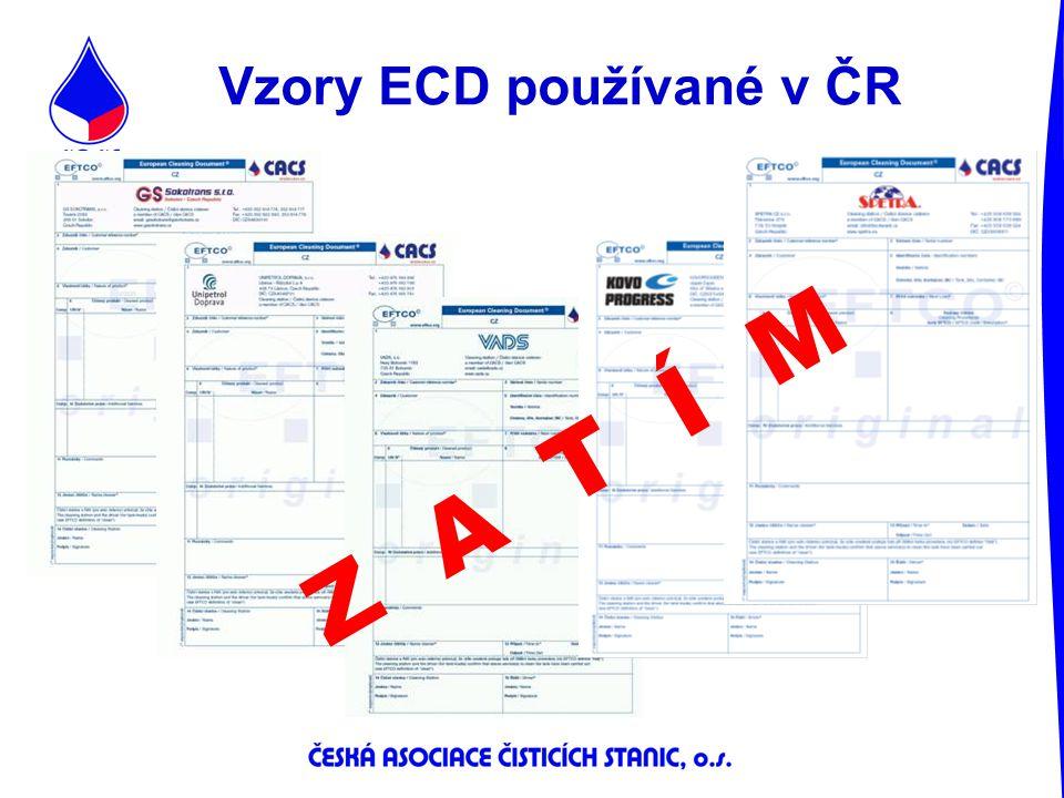 Vzory ECD používané v ČR Z A T Í M