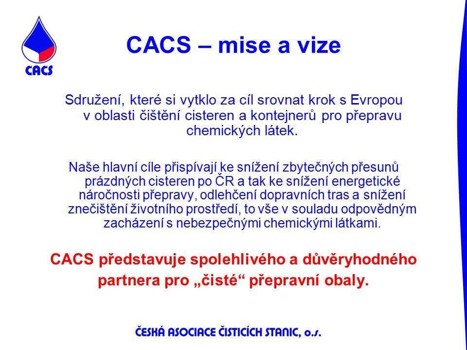 CACS – mise a vize Sdružení, které si vytklo za cíl srovnat krok s Evropou v oblasti čištění cisteren a kontejnerů pro přepravu chemických látek. Naše