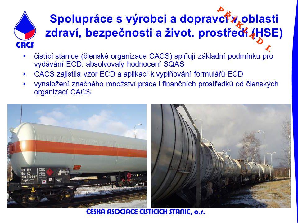 Spolupráce s výrobci a dopravci v oblasti zdraví, bezpečnosti a život. prostředí (HSE) čistící stanice (členské organizace CACS) splňují základní podm