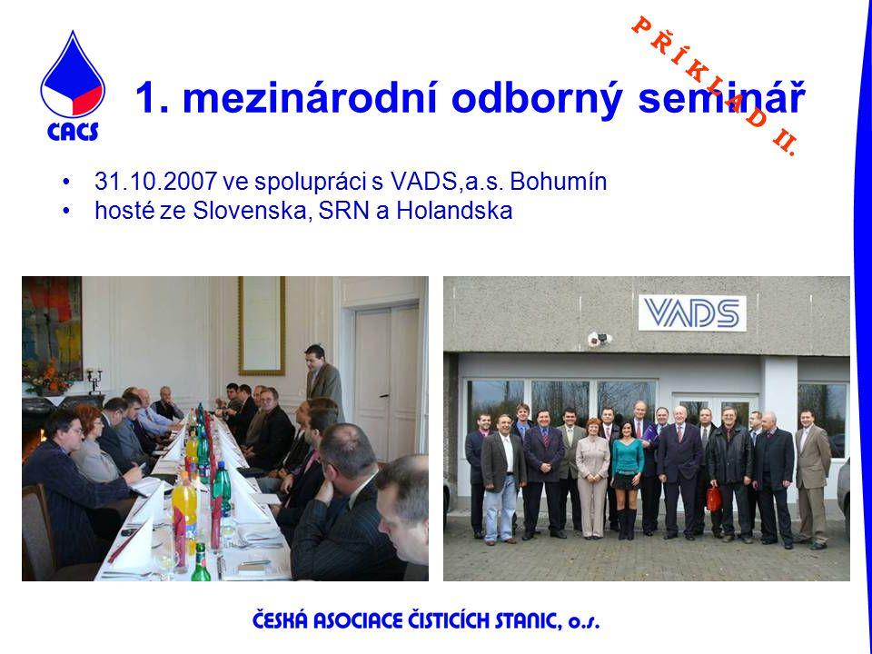 1. mezinárodní odborný seminář P Ř Í K L A D II. 31.10.2007 ve spolupráci s VADS,a.s. Bohumín hosté ze Slovenska, SRN a Holandska