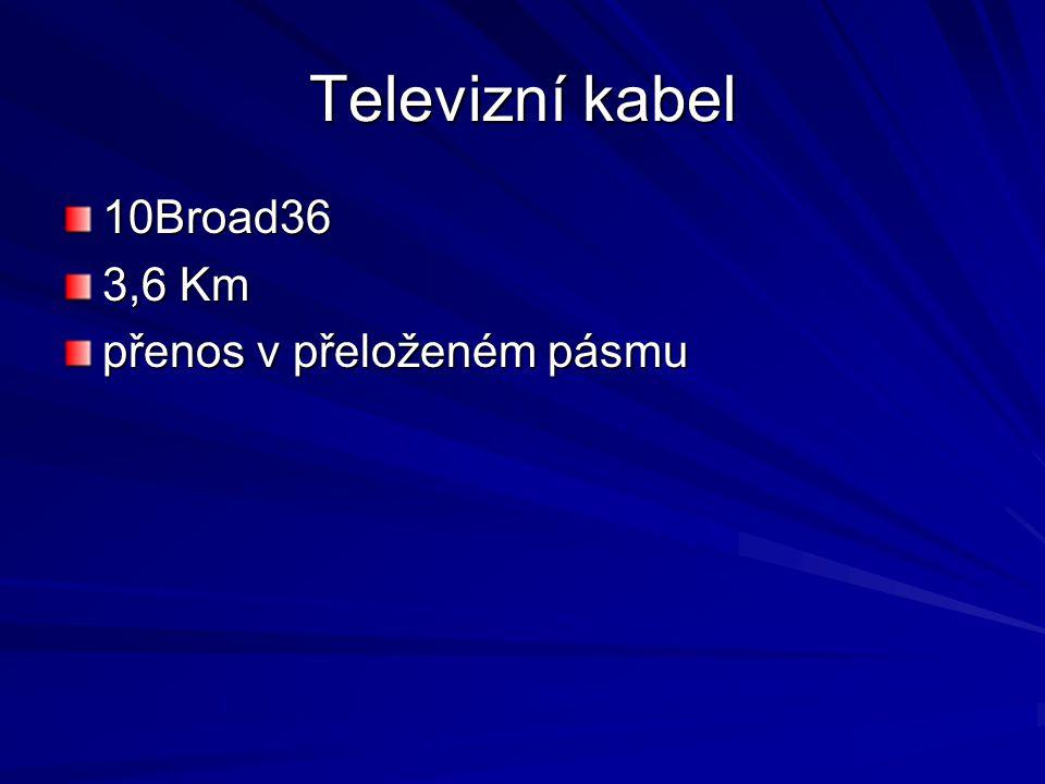 Televizní kabel 10Broad36 3,6 Km přenos v přeloženém pásmu