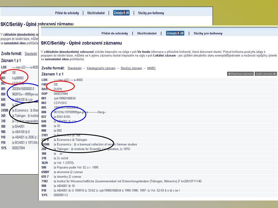 Spolupráce knihoven sjednocování zpracování –názvy, varianty názvu, podnázvy, ISSN –nepravá periodika (ročenky, sborníky) –zpracování monograficky vydaných čísel apod.