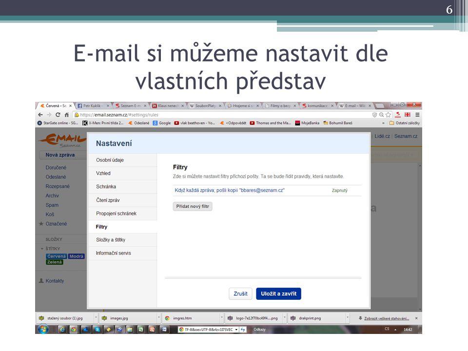 E-mail si můžeme nastavit dle vlastních představ 6