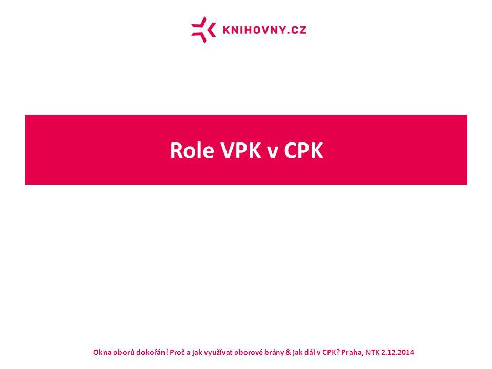Role VPK v CPK Okna oborů dokořán! Proč a jak využívat oborové brány & jak dál v CPK? Praha, NTK 2.12.2014