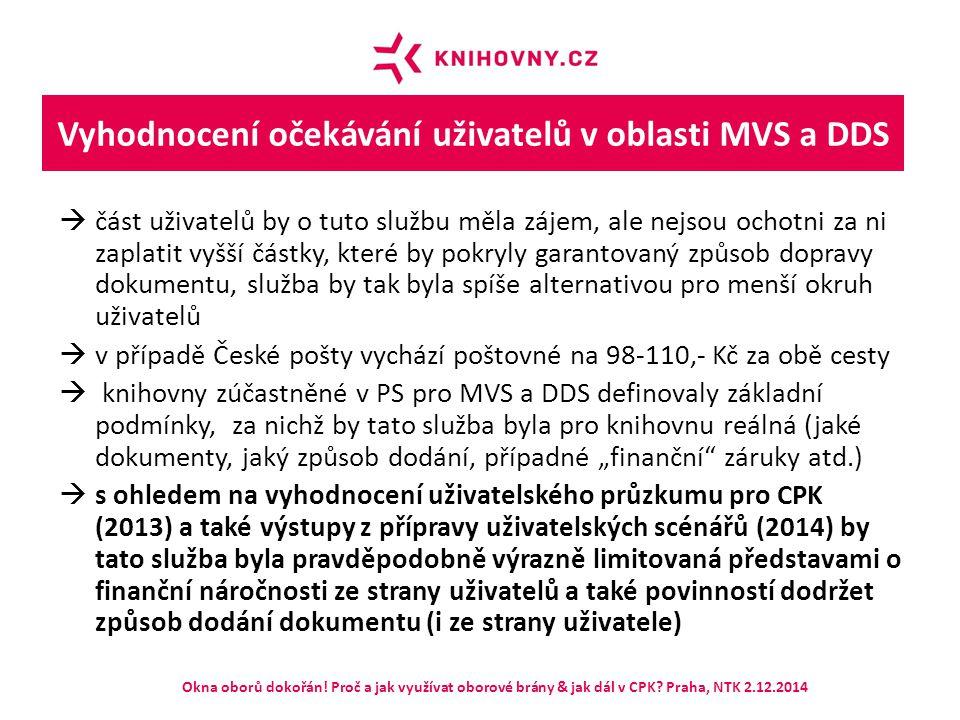 Propojení SK ČR a souborného katalogu VPK Okna oborů dokořán.