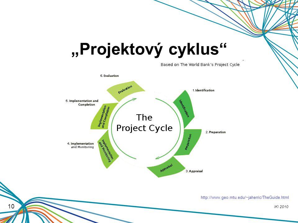 "IKI 2010 10 ""Projektový cyklus"" http://www.geo.mtu.edu/~jaherric/TheGuide.html"