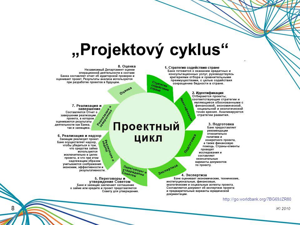 "IKI 2010 8 ""Projektový cyklus"" http://go.worldbank.org/7BG69JZR80"