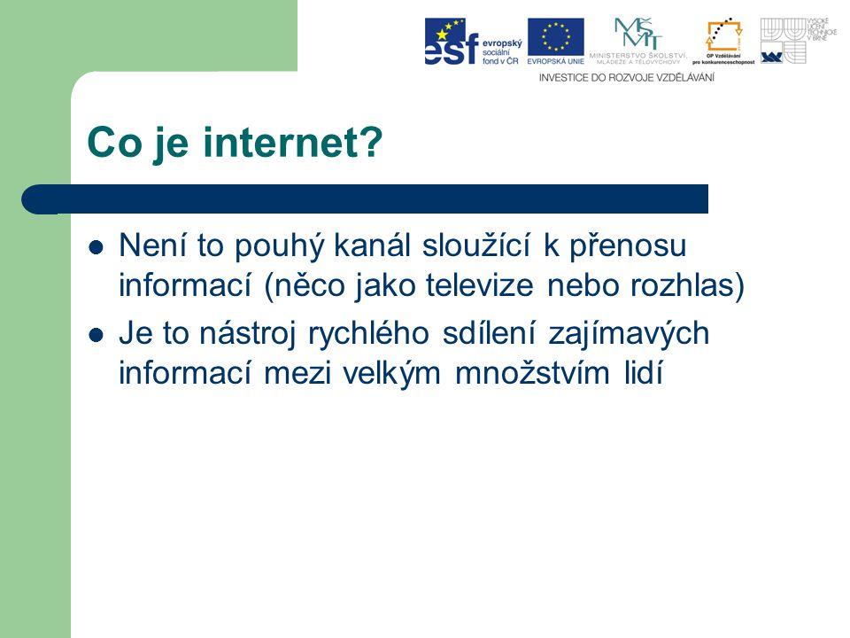 Co je internet.