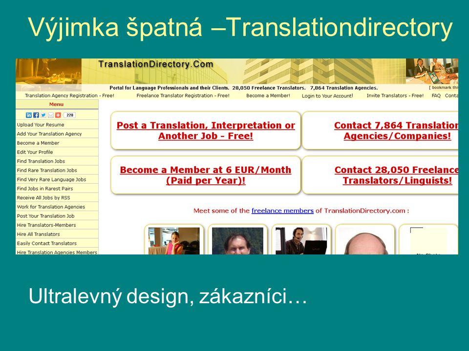 Výjimka špatná –Translationdirectory Ultralevný design, zákazníci…
