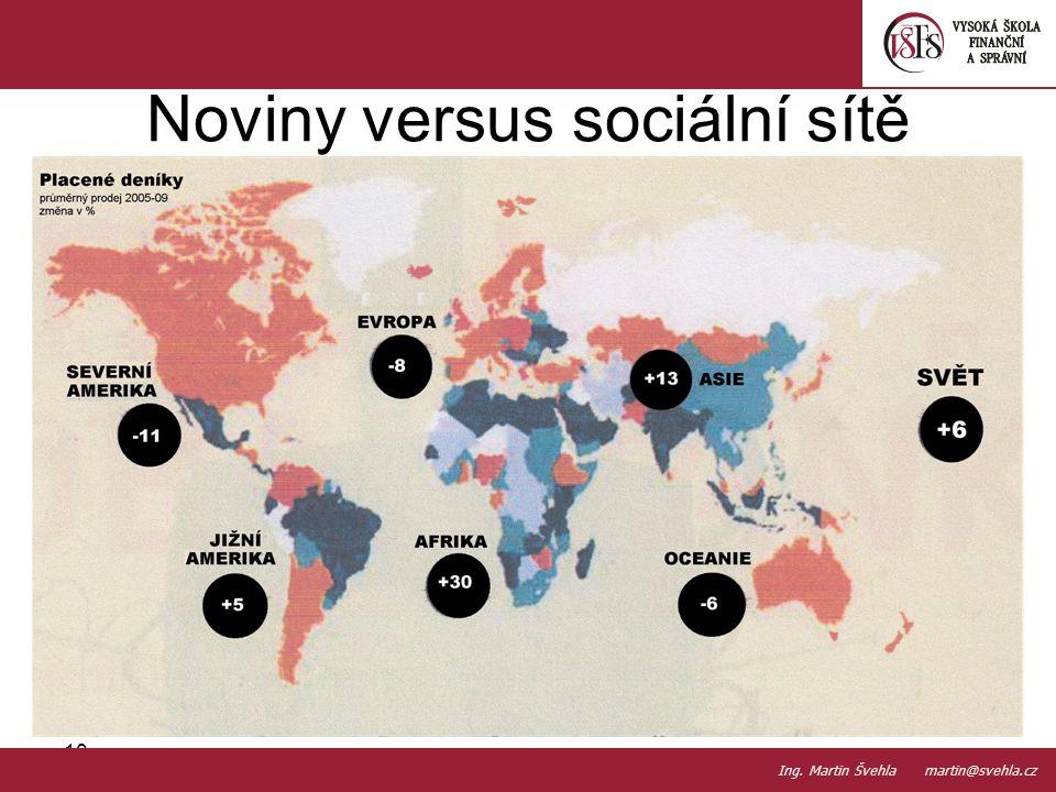 Noviny versus sociální sítě 10. PaedDr.Emil Hanousek,CSc., 14002@mail.vsfs.cz :: Ing. Martin Švehla martin@svehla.cz