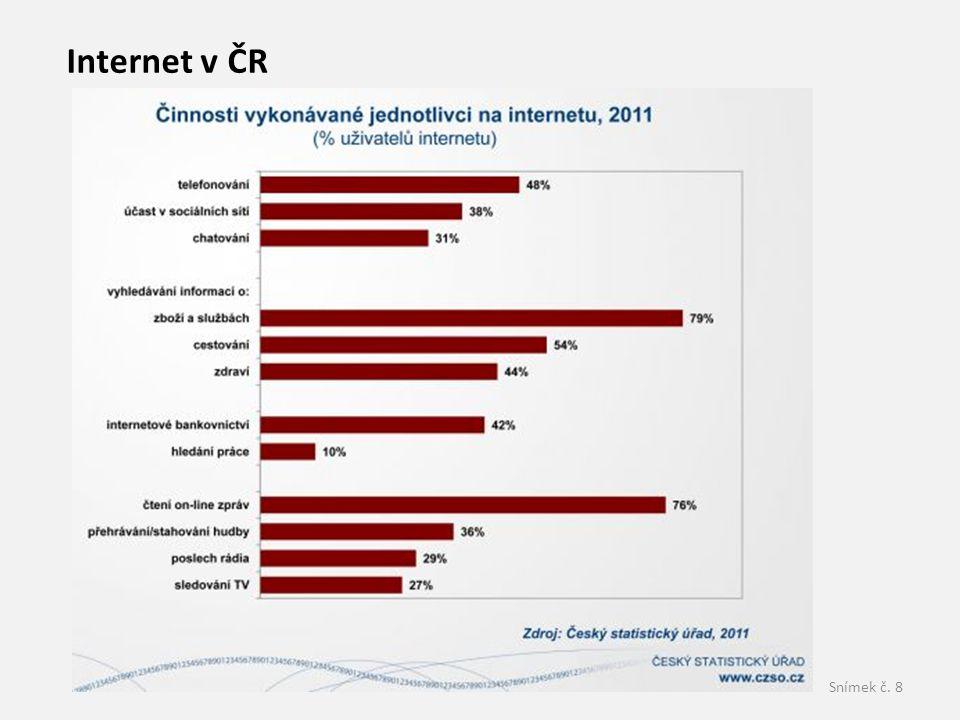 Snímek č. 8 Internet v ČR