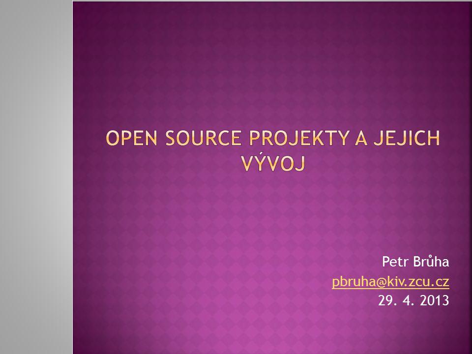 29. 4. 2013 Open source projekty a jejich vývoj 12