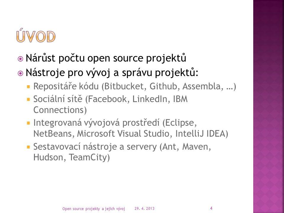 29. 4. 2013 Open source projekty a jejich vývoj 15