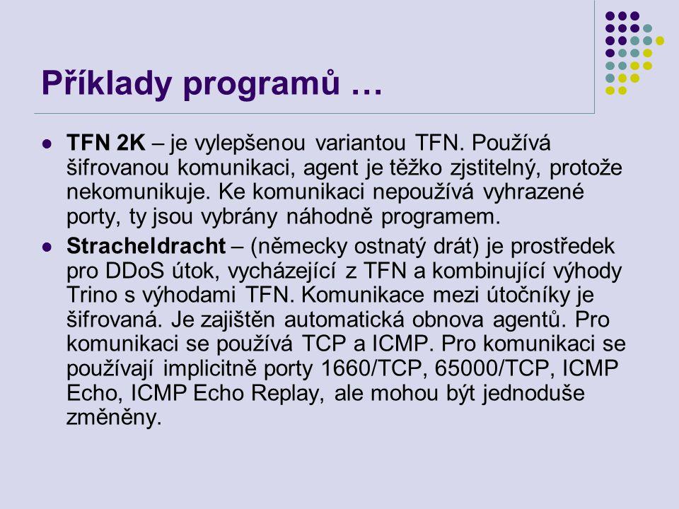 Příklady programů … TFN 2K – je vylepšenou variantou TFN.