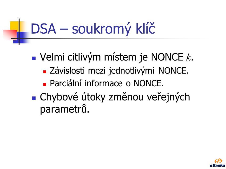 DSA - kolize Kolize hašovací funkce.