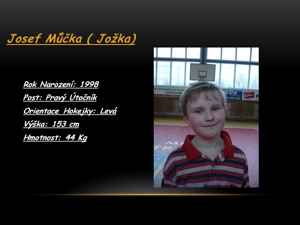 Martin Macháček ( Mačamp ) Rok Narození: 1998 Post: Levý Útok Orientace Hokejky: Levá Výška: 157 cm Hmotnost: 47 Kg