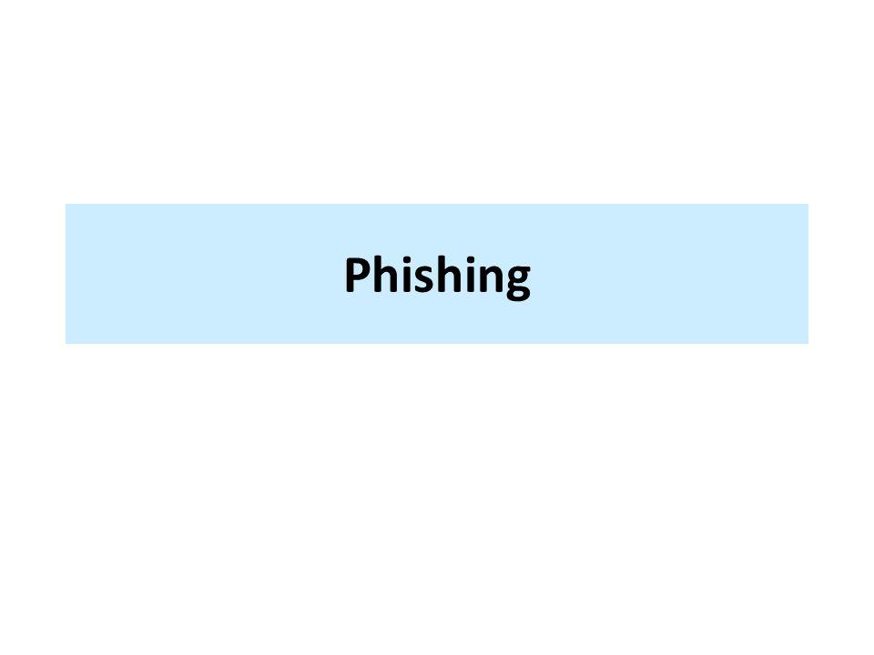 podvodná technika k získání citlivých údajů – heslo, – číslo kreditní karty, … útočník rozešle odkaz na falešnou stránku napodobující styl důvěryhodné instituce (banky) a žádá o potvrzení přihlašovacích údajů