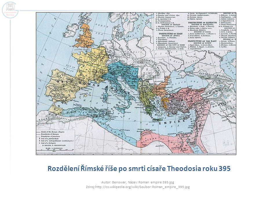 Východořímská říše = Byzantská říše  Pro panovníky nepředstavovalo sesazení posledního císaře Západořímské říše významnější událost.