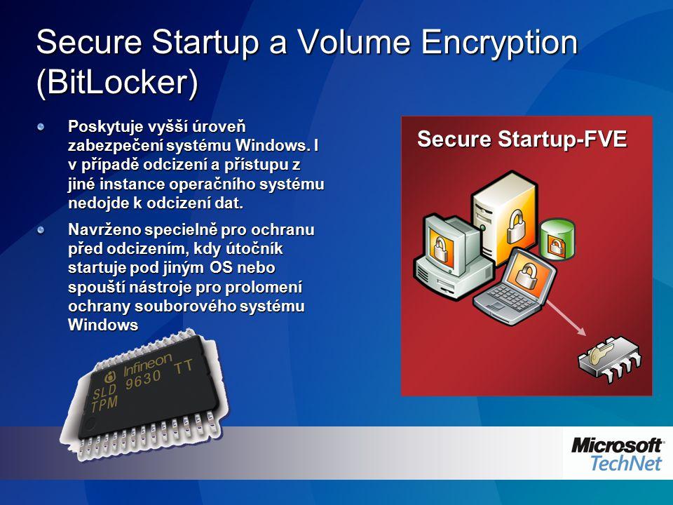 Secure Startup a Volume Encryption (BitLocker) Poskytuje vyšší úroveň zabezpečení systému Windows. I v případě odcizení a přístupu z jiné instance ope