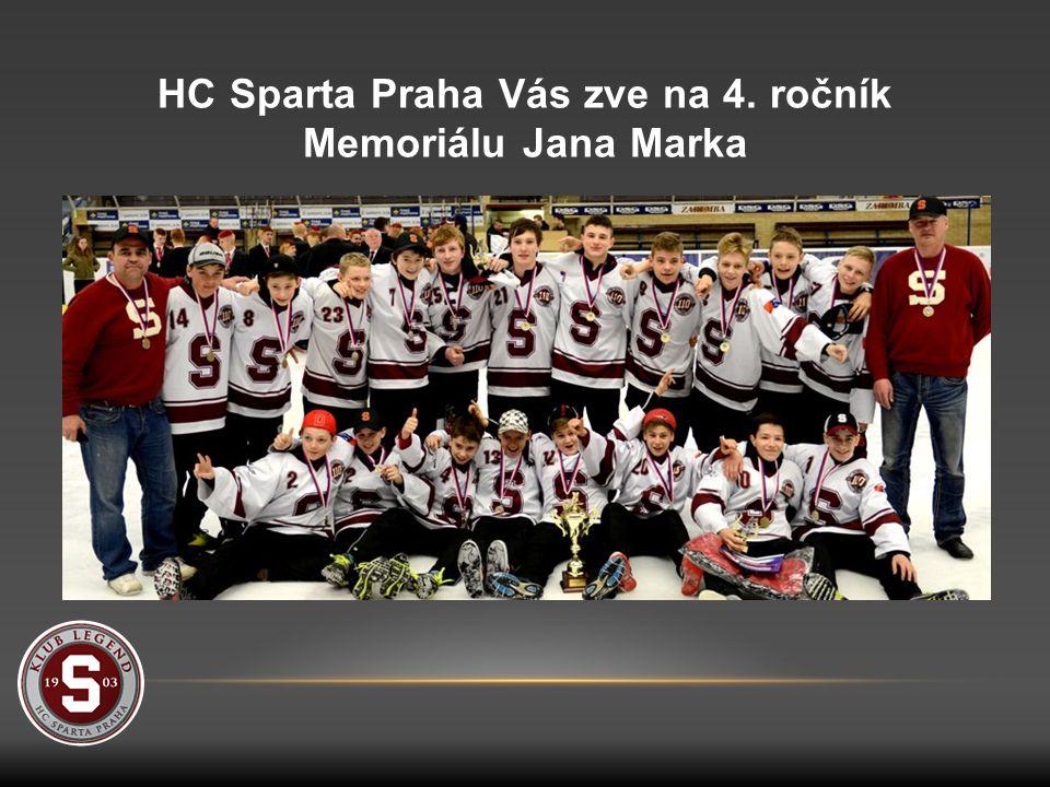 HC Sparta Praha Vás zve na 4. ročník Memoriálu Jana Marka