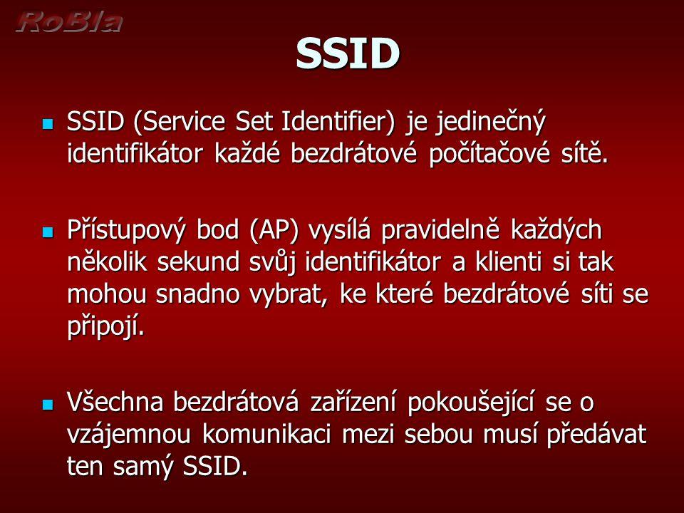 SSID SSID SSID (Service Set Identifier) je jedinečný identifikátor každé bezdrátové počítačové sítě.
