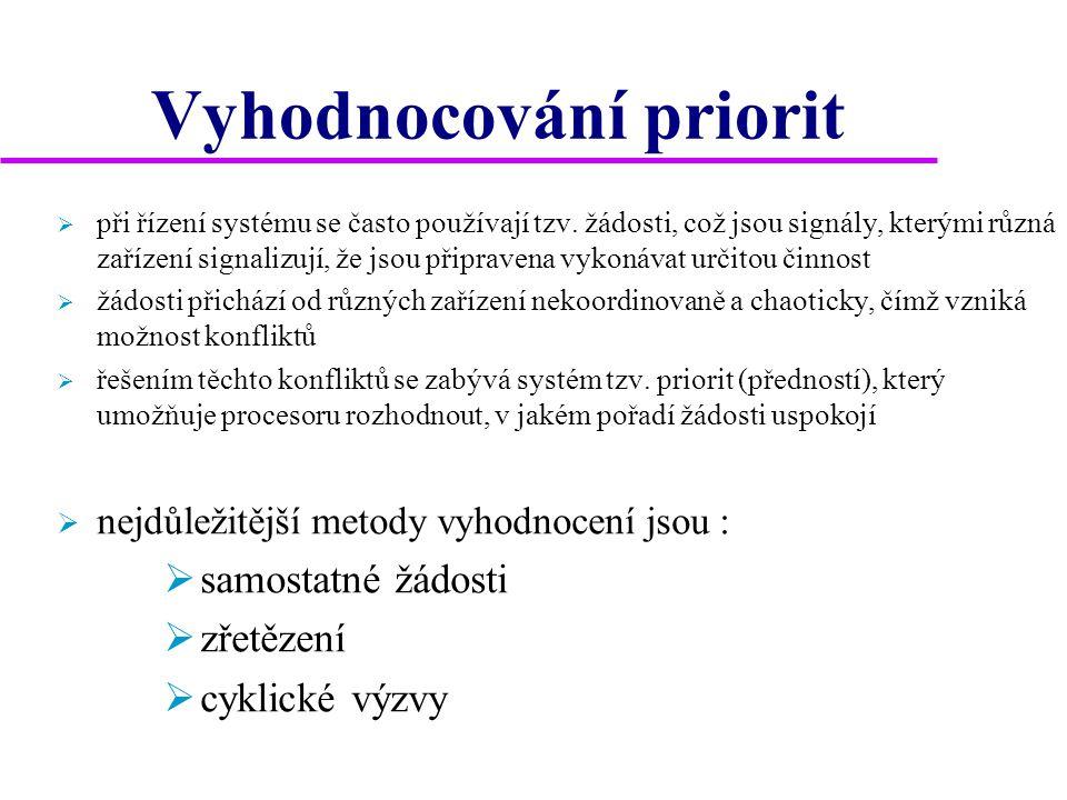 Vyhodnocování priorit  při řízení systému se často používají tzv.
