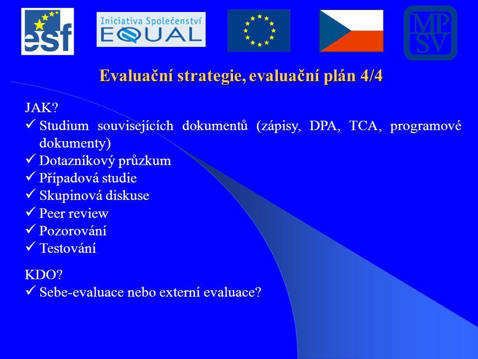 Zadání pro evaluace Zadání pro evaluace vychází z evaluační strategie RP.