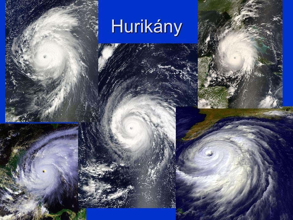 Hurikány hurikán je tento jev označován v Atlantském zálivu, stejný jev v severozápadním Tichomoří je nazýván tajfun a v Indickém oceán cyklon nebo uragán aby hurikán vznikl, moře musí mít min.