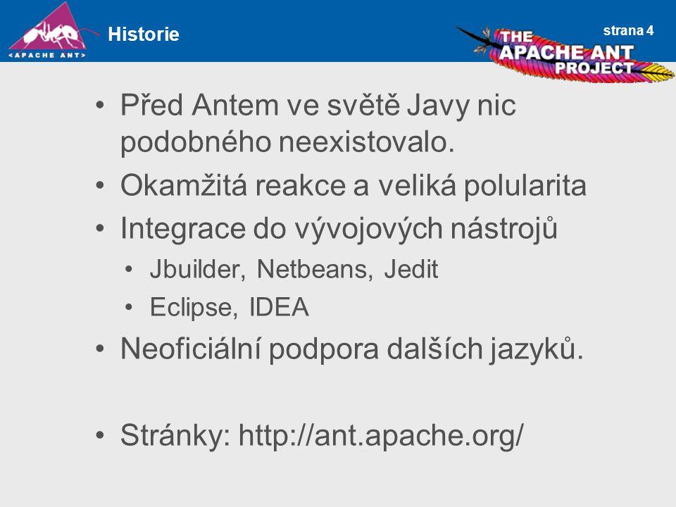 strana 4 Před Antem ve světě Javy nic podobného neexistovalo.