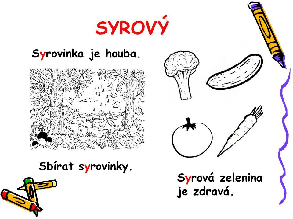 SYROVÝ Syrová zelenina je zdravá. Syrovinka je houba. Sbírat syrovinky.
