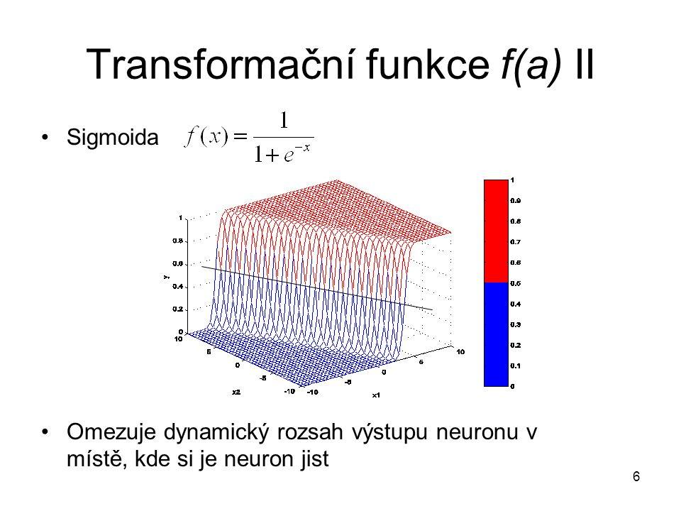 17 Implementace NN Trénovací algoritmus a i dopředný průchod sítí lze zapsat maticově (viz.