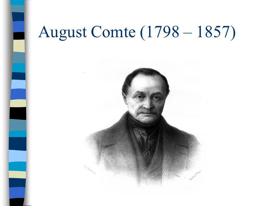 August Comte (1798 – 1857)