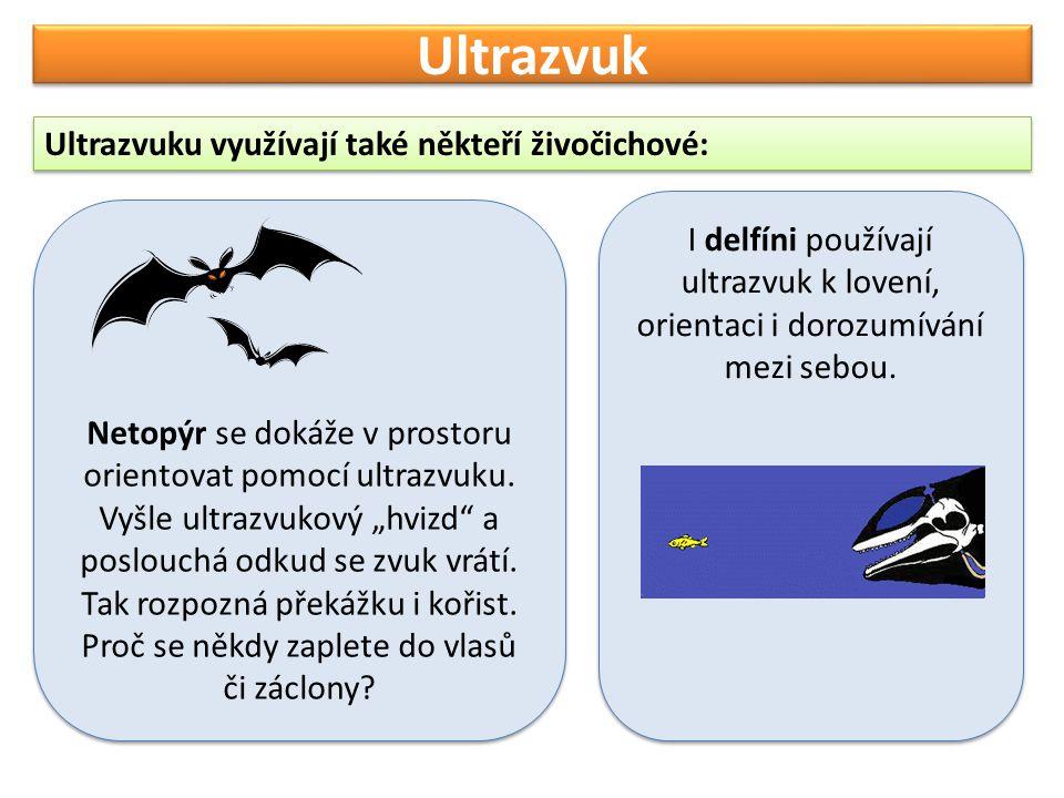 Ultrazvuk Další využití ultrazvuku najdeme v lékařství a technice: V lékařství např.