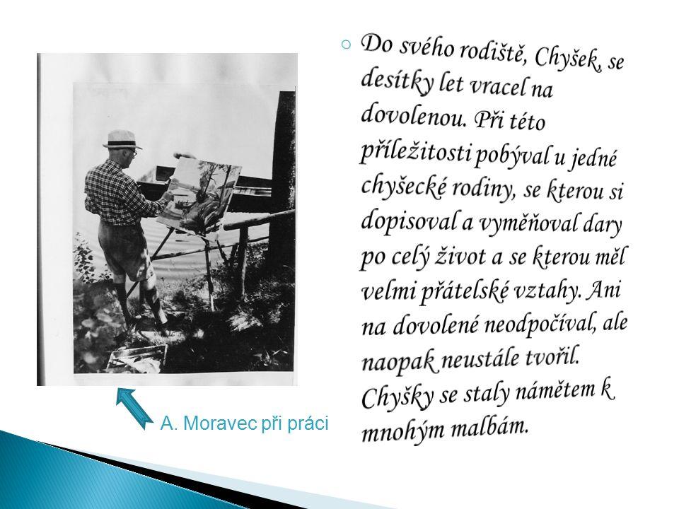 Alois Moravec, jak učí paní Dvořákovou (Vačlenovou) – dcera rodiny, u které bydlel - kreslit postavu foto náčrt