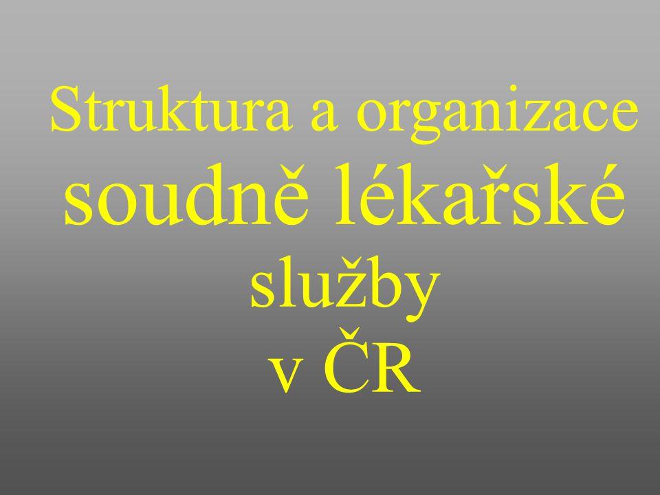 Struktura a organizace soudně lékařské služby v ČR